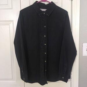ASOS || Black denim shirt